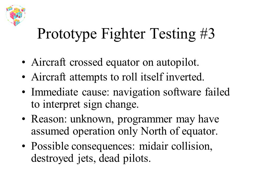 Prototype Fighter Testing #3 Aircraft crossed equator on autopilot.