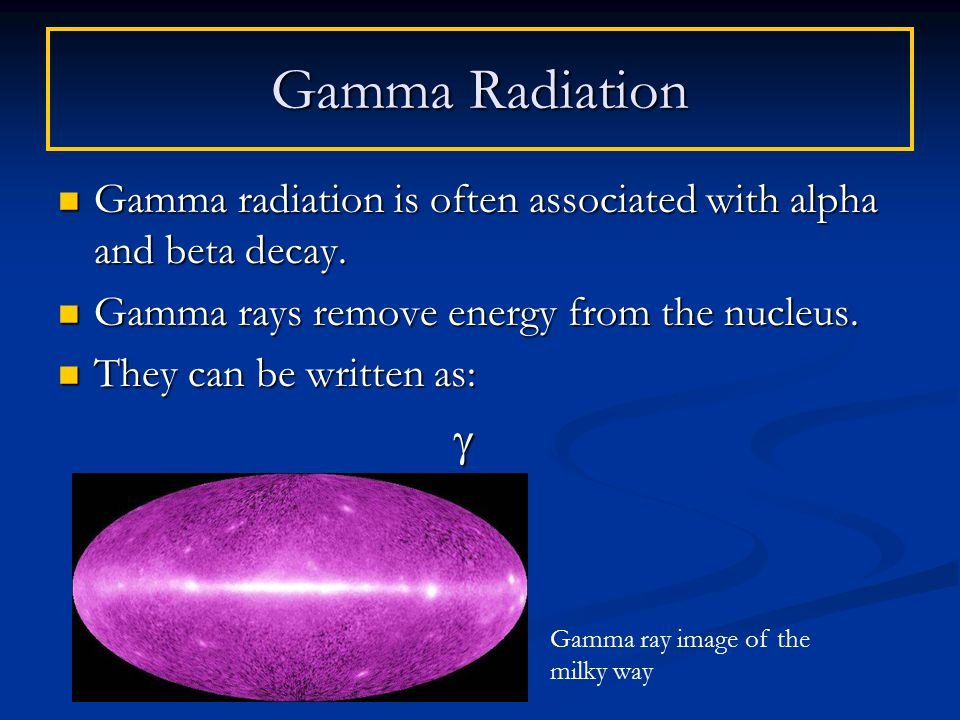 Gamma radiation is often associated with alpha and beta decay.