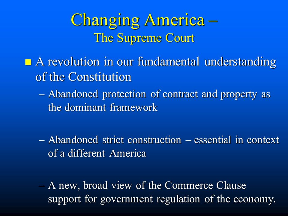 Changing America – Role in the World Transformed to SuperPower Transformed to SuperPower World Banker World Banker Embraced Collective Security and broad responsibility for peace and democracy Embraced Collective Security and broad responsibility for peace and democracy Alliances – From 0 to 100 mph in 6 sec. Alliances – From 0 to 100 mph in 6 sec.