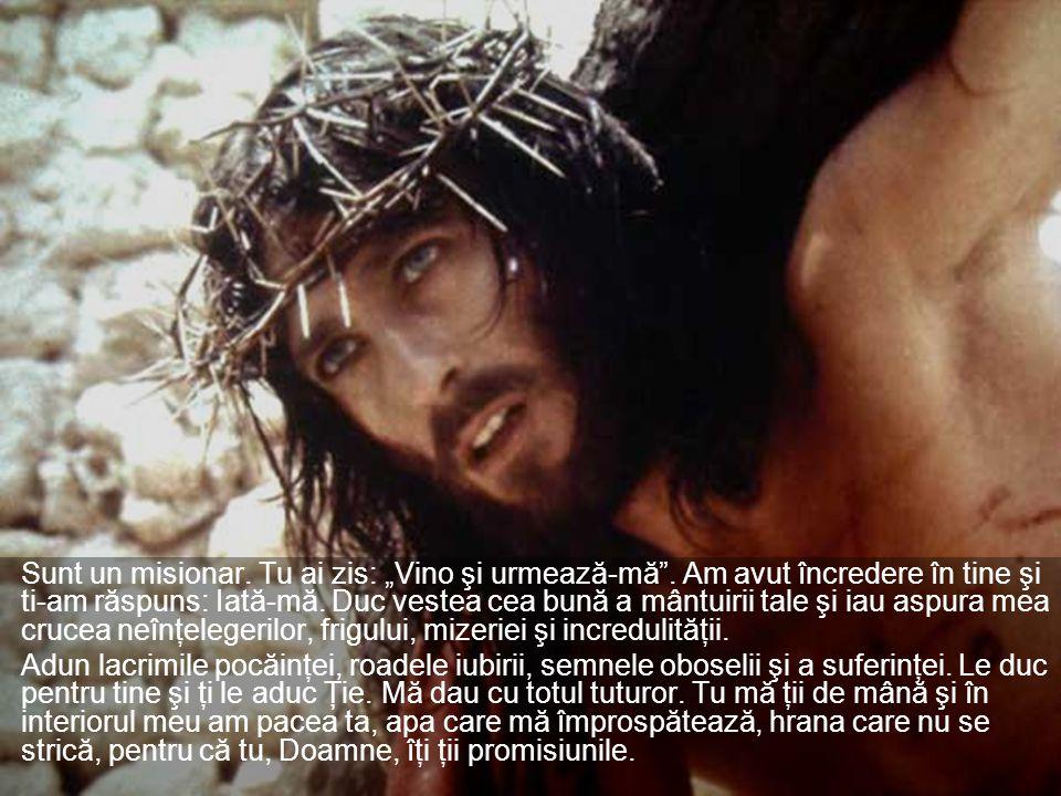 """Sunt un misionar. Tu ai zis: """"Vino şi urmează-mă ."""