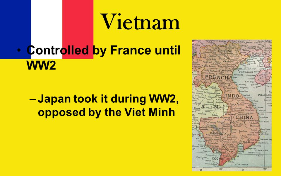 Vietcong (VC) VC was located in SV Communist allies in NV helped Supply line from N to S nicknamed Ho Chi Minh Trail