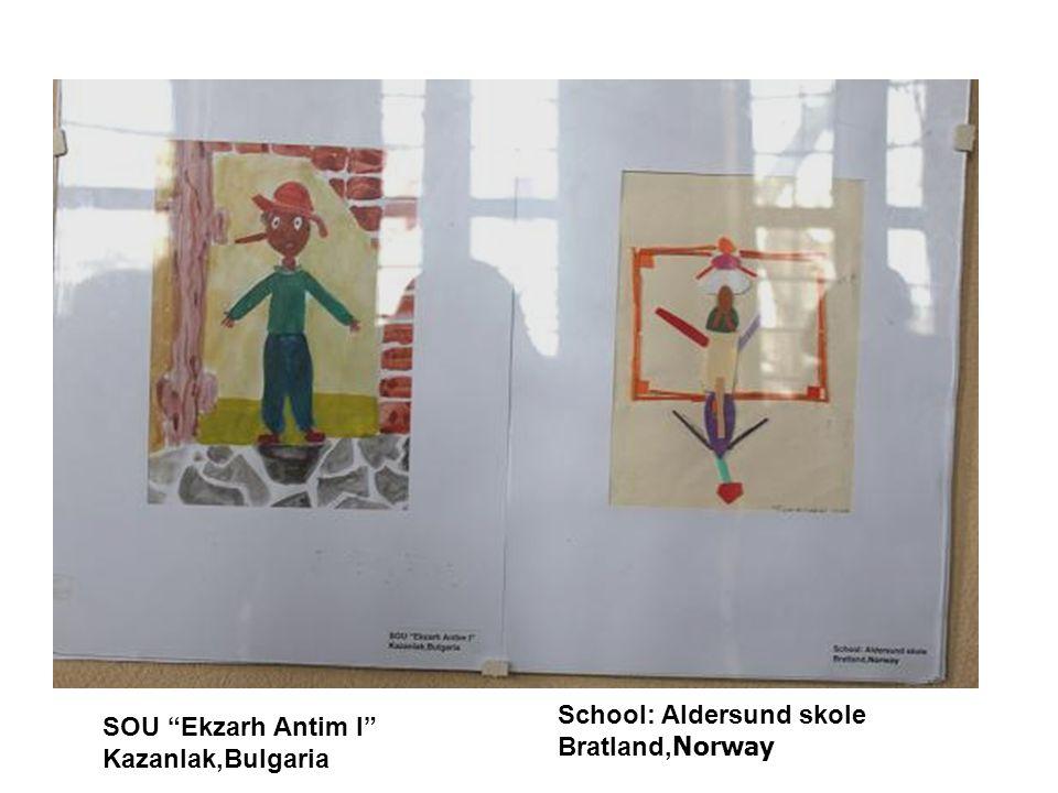 "School: Aldersund skole Bratland, Norway SOU ""Ekzarh Antim I"" Kazanlak,Bulgaria"