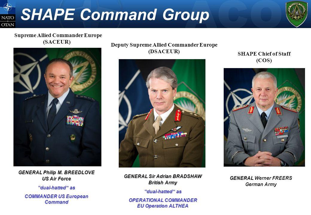 "GENERAL Sir Adrian BRADSHAW British Army ""dual-hatted"" as OPERATIONAL COMMANDER EU Operation ALTHEA GENERAL GENERAL Werner FREERS German Army GENERAL"