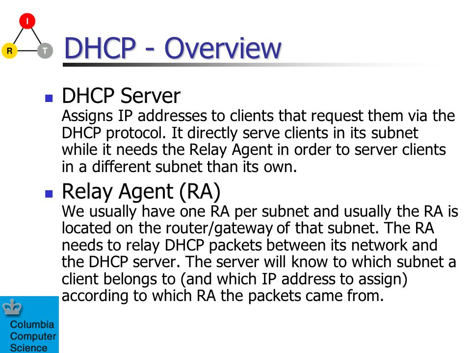 DHCP Procedure - Overview MN DHCP DISCOVER DHCP REQUEST DHCP ACK L2 Handoff Complete DHCP Server DHCP OFFER DAD