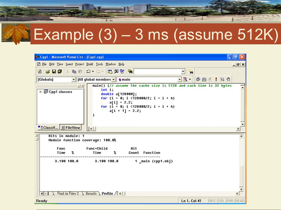 Example (3) – 3 ms (assume 512K)