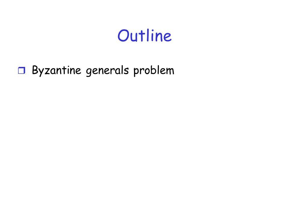 Outline r Byzantine generals problem