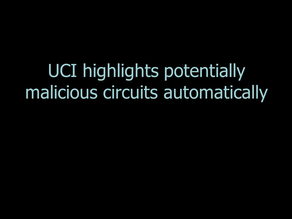 UCI highlights potentially malicious circuits automatically