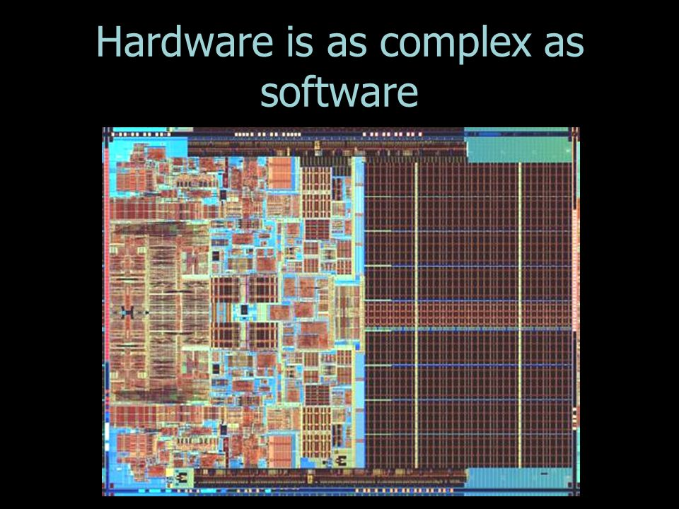 Hardware is as complex as software