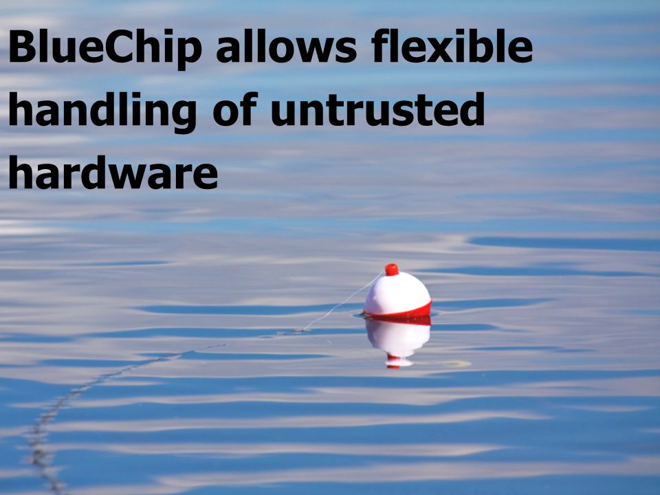 BlueChip allows flexible handling of untrusted hardware