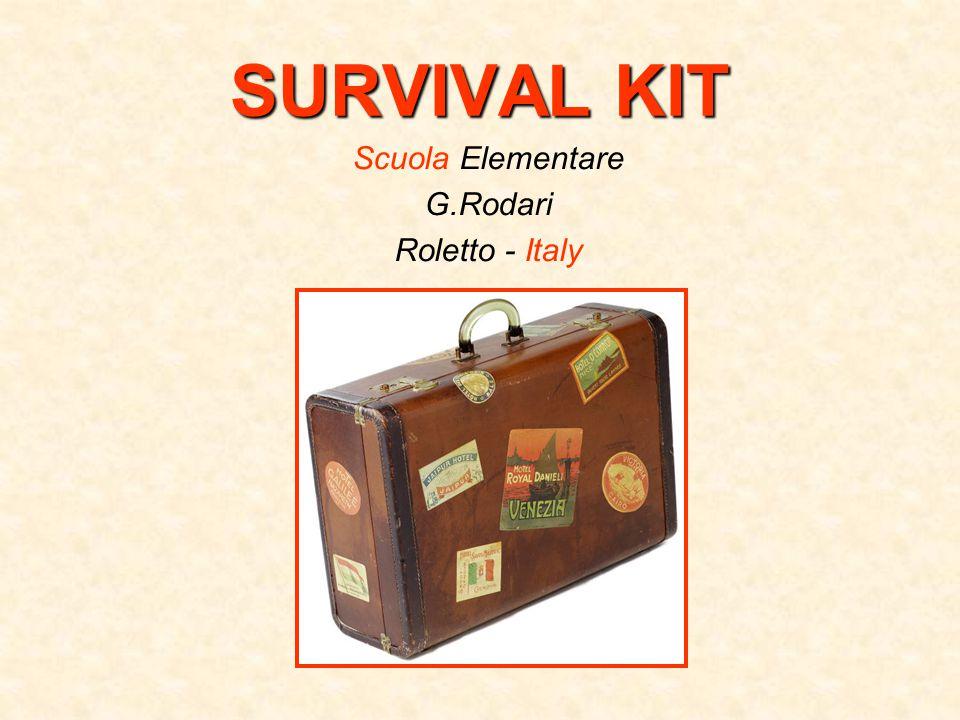 SURVIVAL KIT Scuola Elementare G.Rodari Roletto - Italy