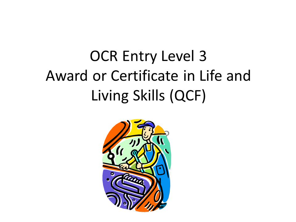 Life and Living Skills – General Information Level – The scheme is pre entry level and broadly comparable with QCAs P scales.