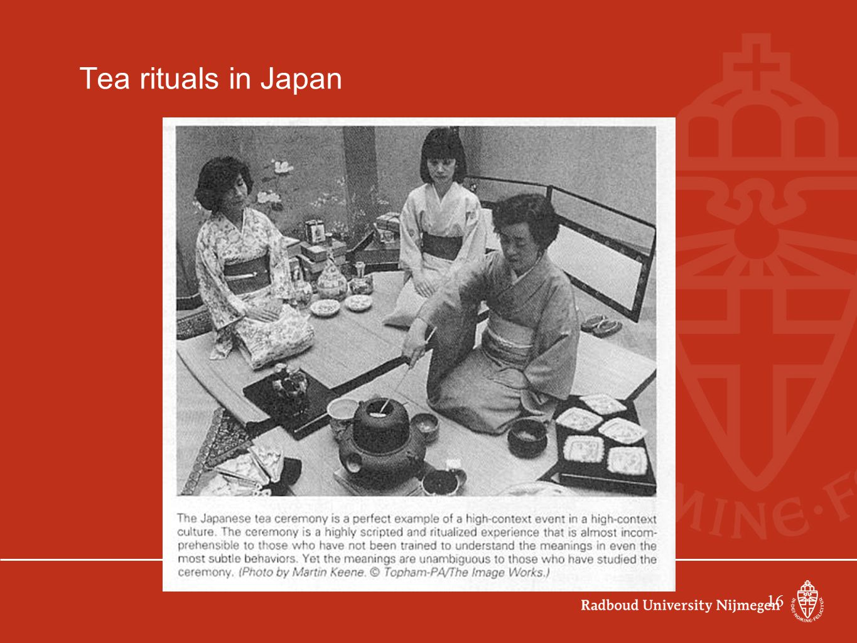 16 Tea rituals in Japan