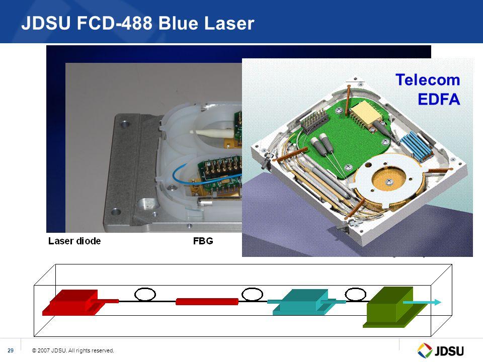 © 2007 JDSU. All rights reserved.29 JDSU FCD-488 Blue Laser Telecom EDFA
