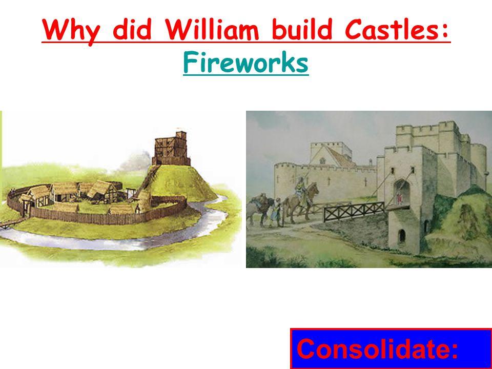 Why did William build Castles.
