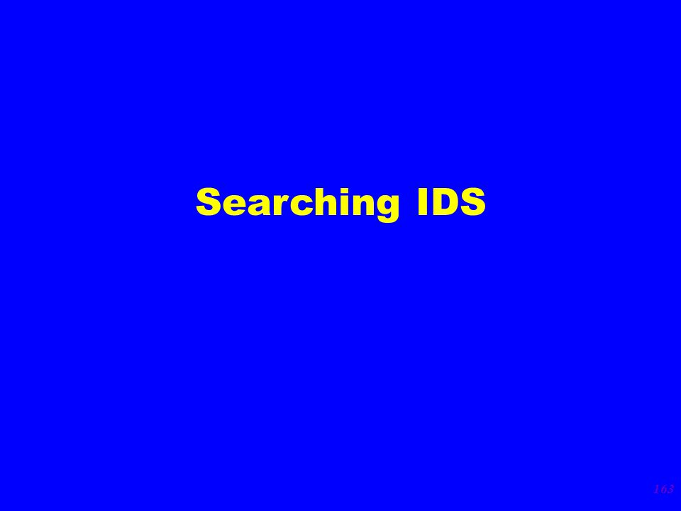 163 Searching IDS