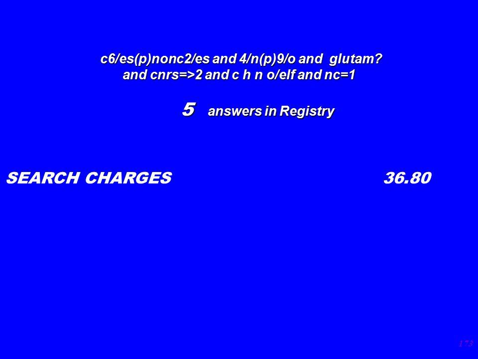 173 c6/es(p)nonc2/es and 4/n(p)9/o and glutam. c6/es(p)nonc2/es and 4/n(p)9/o and glutam.