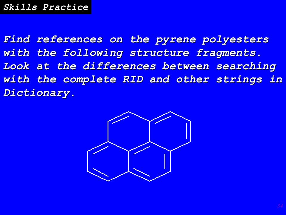 34 Find references on the pyrene polyesters with the following structure fragments.