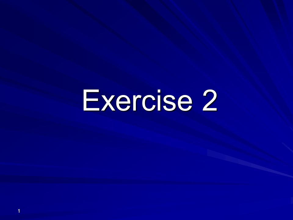 Exercise 2 1