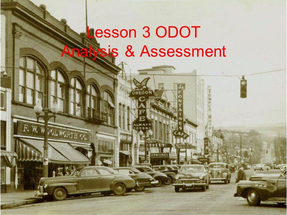 Lesson 3 ODOT Analysis & Assessment