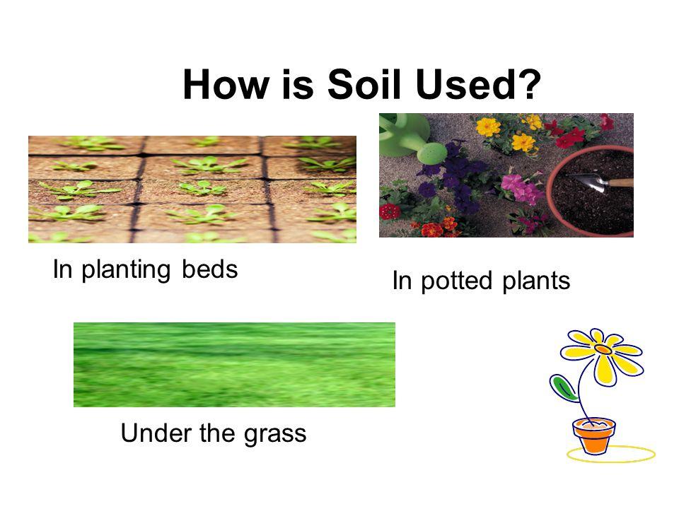 How is Soil Used? Under school buildingsIn gardens