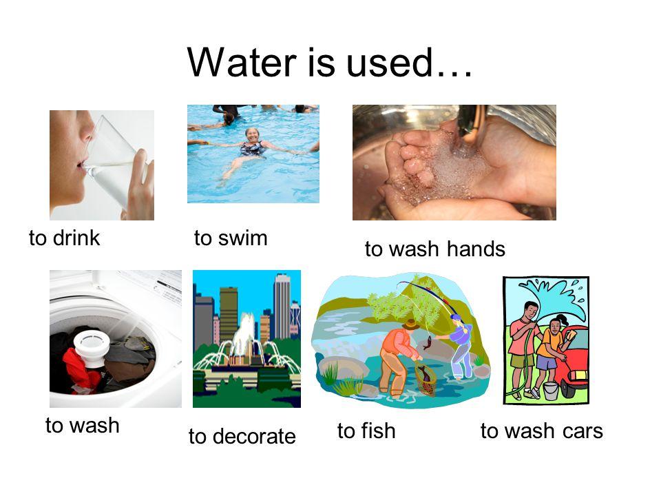 Water is used… to brush teethfor foodto water plants