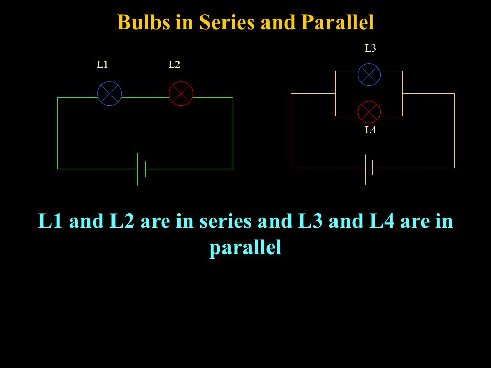 Bulbs in Series and Parallel In which circuit is L4 brighter.