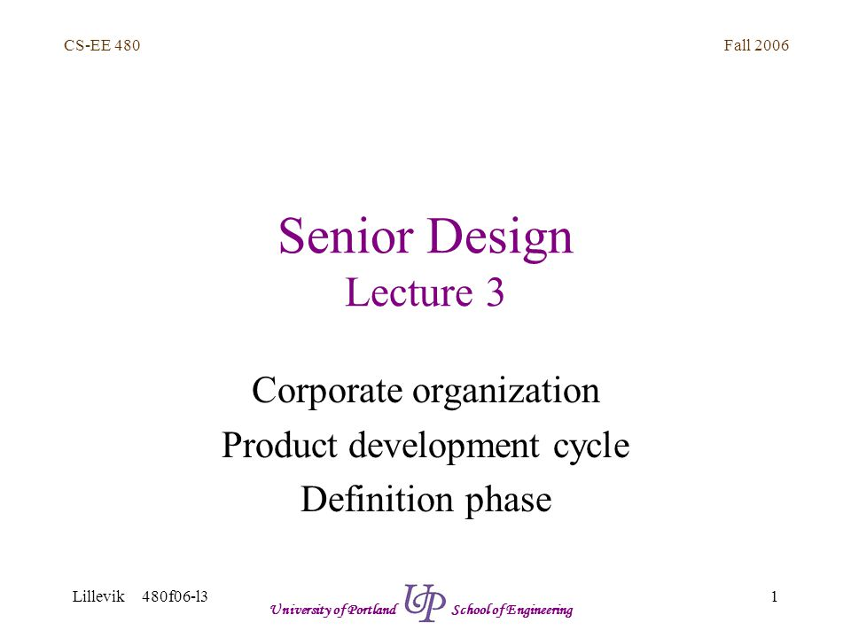 Fall 2006 12 CS-EE 480 Lillevik 480f06-l3 University of Portland School of Engineering SW vs.