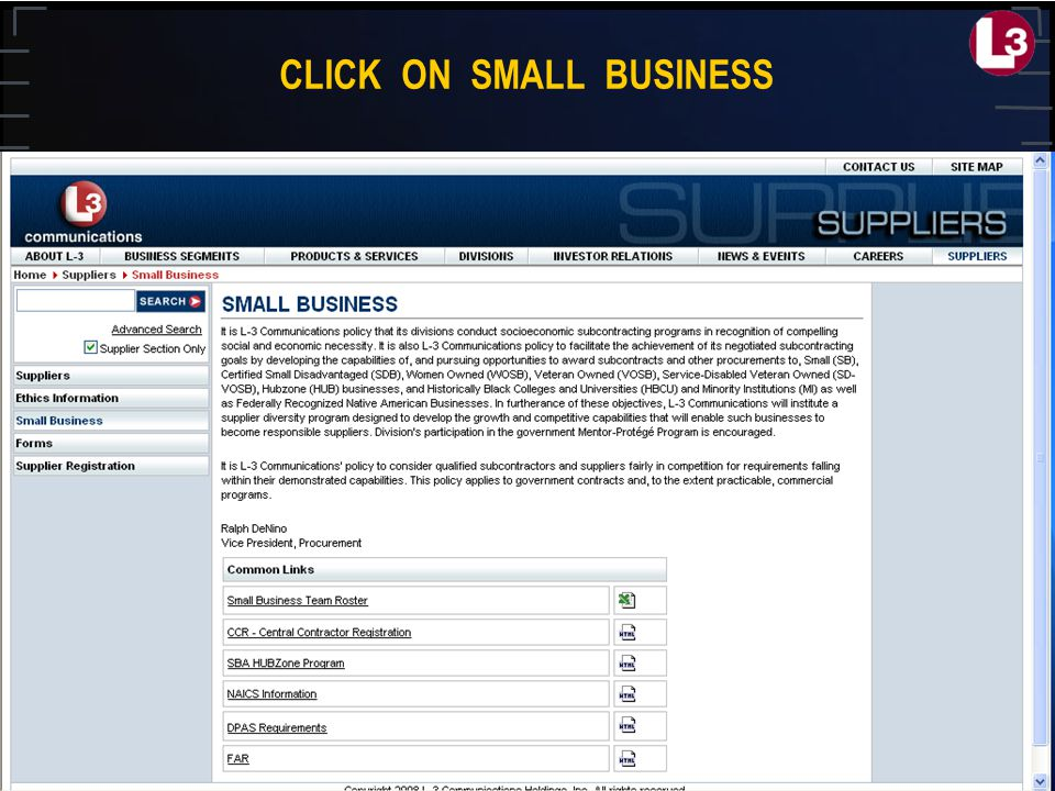 CLICK ON SMALL BUSINESS