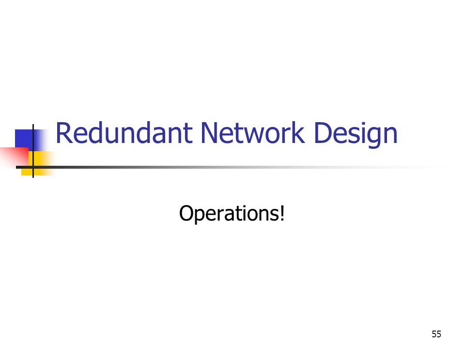55 Redundant Network Design Operations!