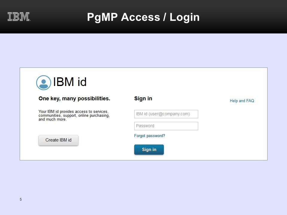 PgMP Access / Login 5