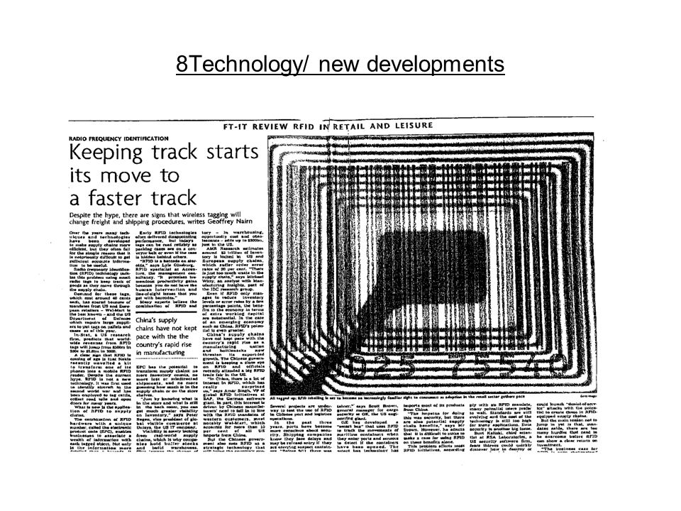 8Technology/ new developments