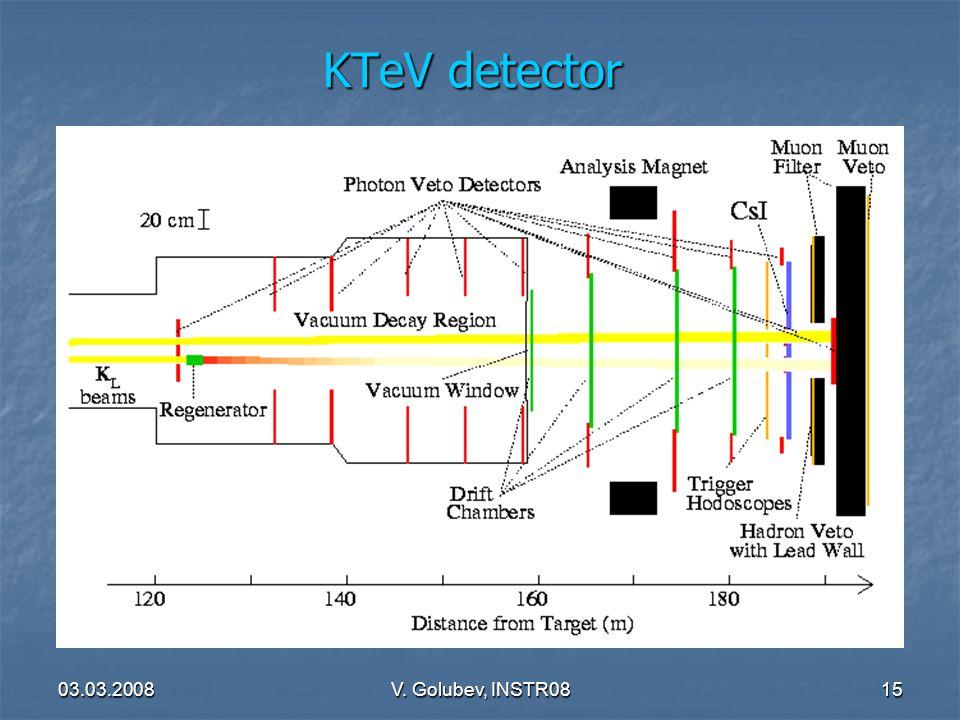 03.03.2008V. Golubev, INSTR0815 KTeV detector