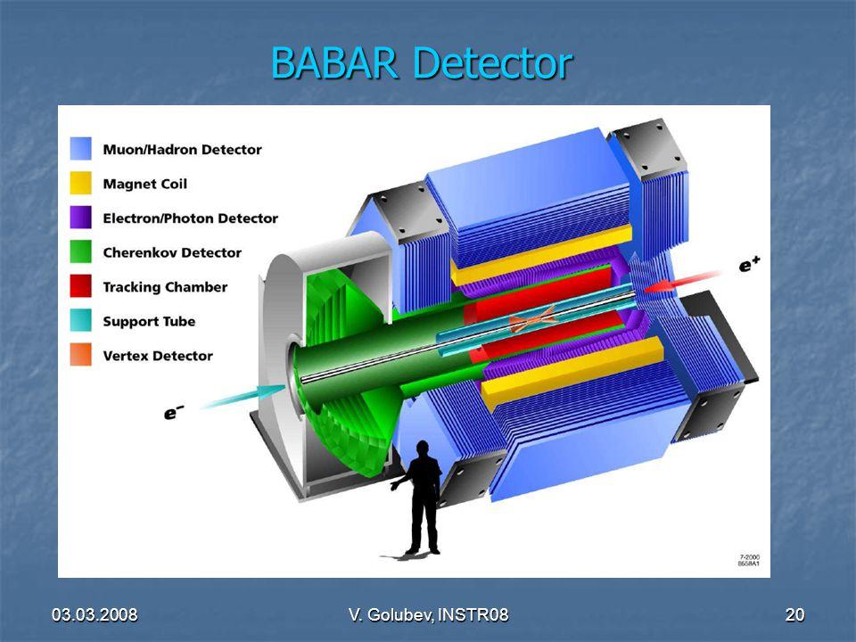03.03.2008V. Golubev, INSTR0820 BABAR Detector
