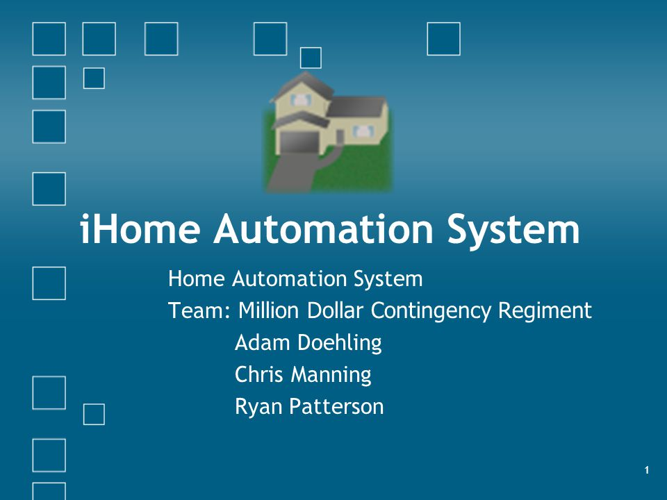 iHome Security & Automation System12 Hardware Description-Level 3 Nodes Level 3 nodes may or may not (depending on time constraints) be included in our project.