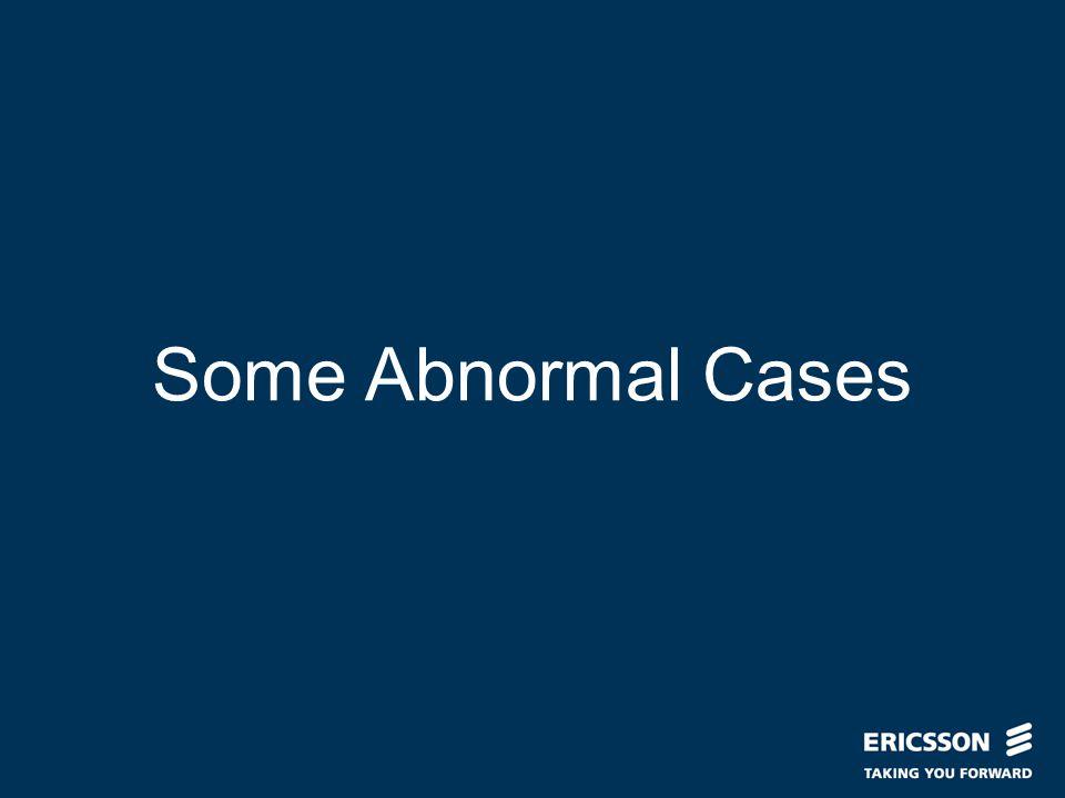 Slide title In CAPITALS 50 pt Slide subtitle 32 pt Some Abnormal Cases