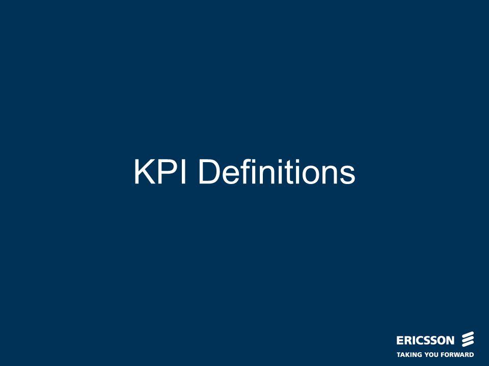 Slide title In CAPITALS 50 pt Slide subtitle 32 pt KPI Definitions