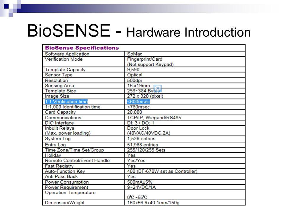 BioSENSE I - Web Server Functionalities