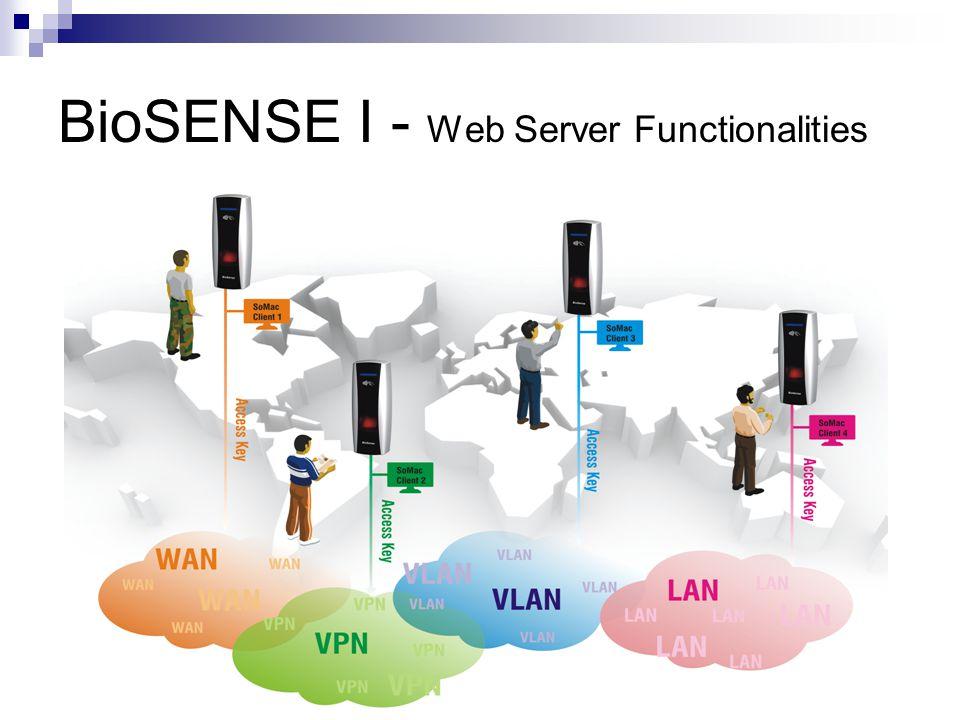 BioSENSE I - Web Server Functionalities Set IP Camera to interact with BioSENSE system