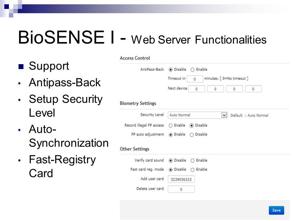 BioSENSE I - Web Server Functionalities Door Setup (Bypass Time Zone for Door)
