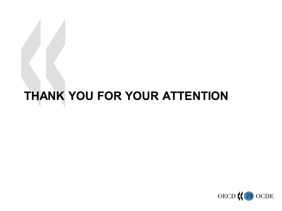 29 THANK YOU FOR YOUR ATTENTION