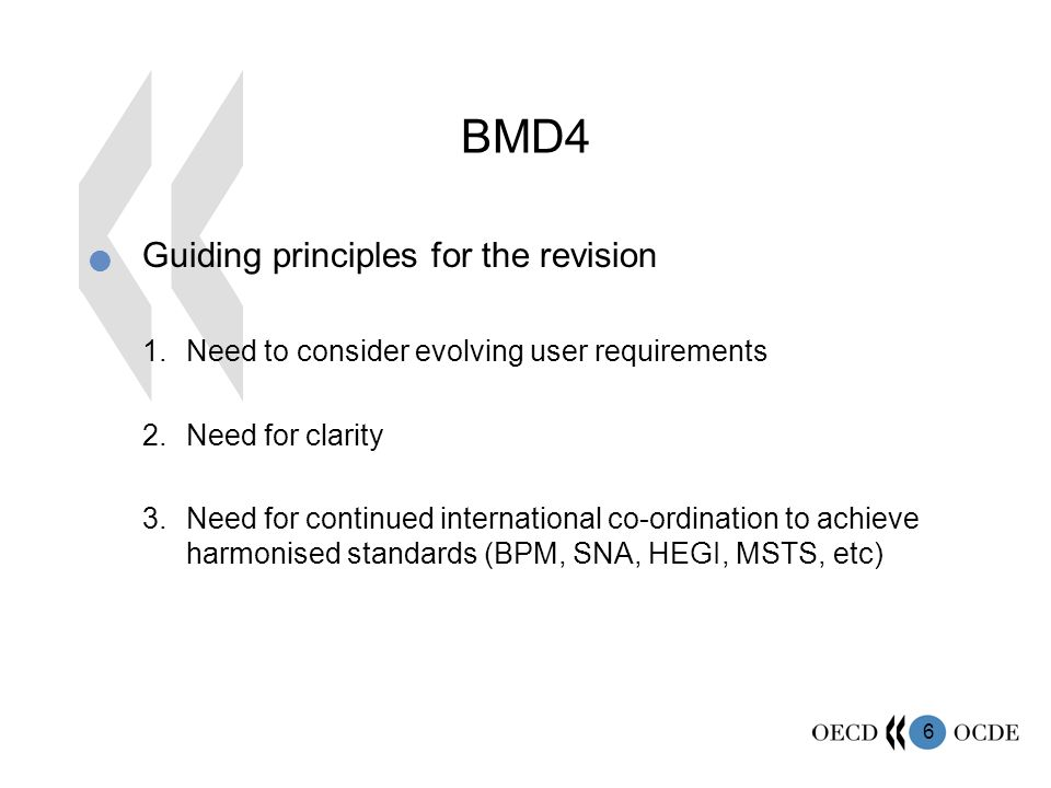 7 BMD4 Results of the revision 1.Existing recommendations remain unchanged and/or are reinforced, improved, clarified 2.Replacement/removal of existing recommendations.