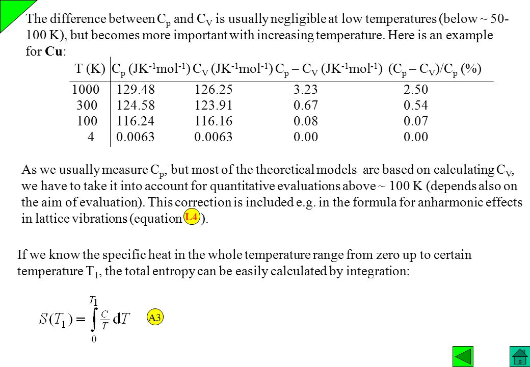 If we know the specific heat in the whole temperature range from zero up to certain temperature T 1, the total entropy can be easily calculated by int