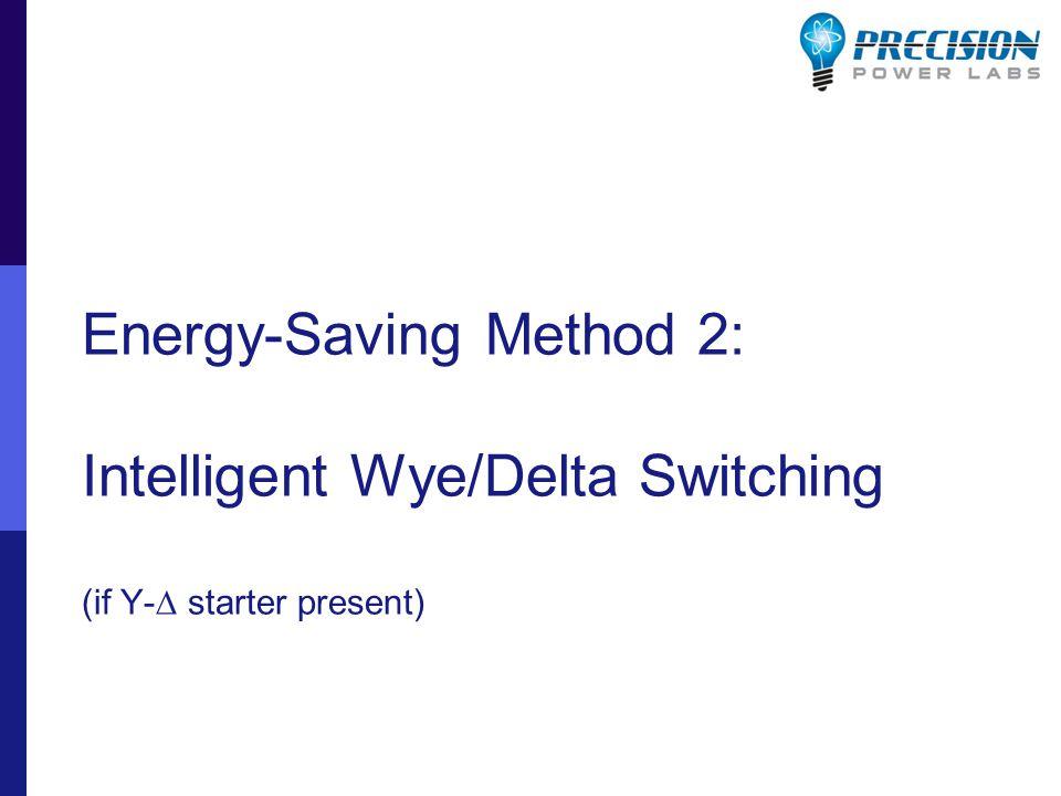 Energy-Saving Method 2: Intelligent Wye/Delta Switching (if Y-  starter present)