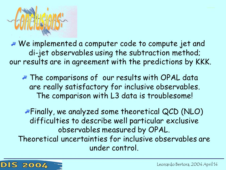Finally, we analyzed some theoretical QCD (NLO) difficulties to describe well particular exclusive observables measured by OPAL.