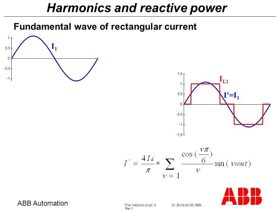 Harmonics and reactive power ABB Automation File: netzrück-2.ppt 3Dr.