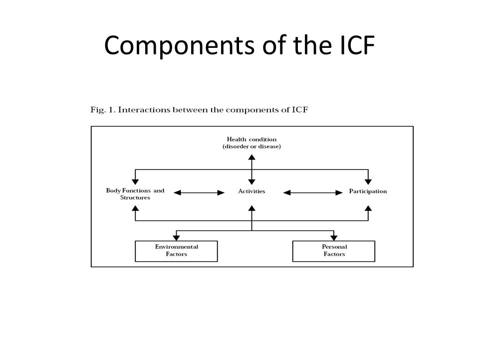 Components of the ICF