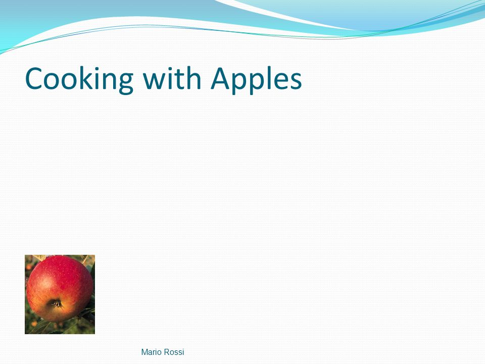 Cooking with Apples Mario Rossi