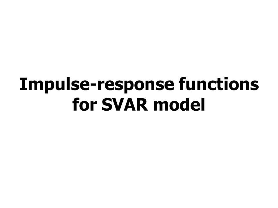 Impulse-response functions for SVAR model