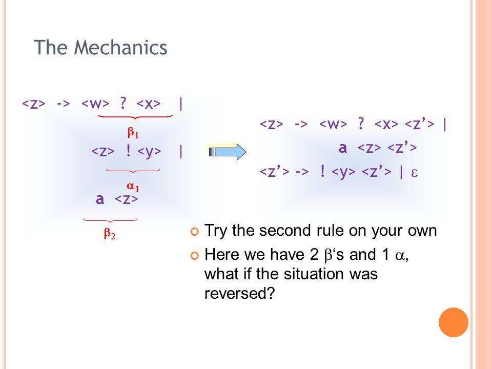 The Mechanics -> . | . | a    -> . | a -> .