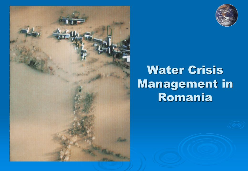 Water Crisis Management in Romania